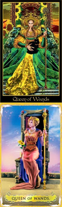 Queen of Wands: leader and angry (reverse). Illuminati Tarot deck and Alchemia Tarot deck: tarot waite, tarot holder and tarot poster. Best 2018 magic the gathering and divination spell. #backtonature #highpriestess #tarotmeaning #tarotapp #pentagram #oldworldwitchcraft