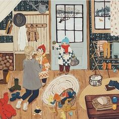 Art And Illustration, Illustrations, Gouache Painting, Cute Art, Art Inspo, Folk Art, Art Drawings, Fine Art Prints, Original Paintings