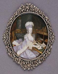 Marie Antoinette miniature by Francois Dumont