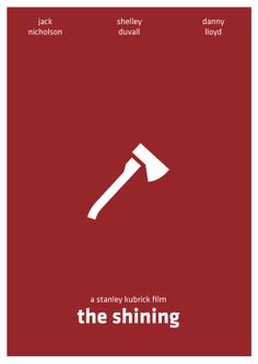 The Shining (1980) ~ Minimal Movie Poster by Arden Avett