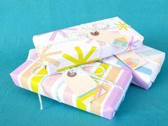 paquetes envueltos con washi tape