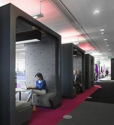 breakout pods for meetings and lunch  ID:SR for BBC North