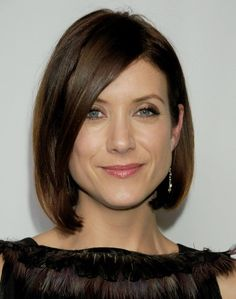 Asymmetric Bob Cut: Smooth Medium Bob for Classic Elegance – Kate Walsh's Short Haircut