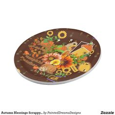Autumn Blessings Scrappy Pieces Design Print Paper Plate  sc 1 st  Pinterest & Halloween Graphic Design Print Paper Plate | Paper Plates and ...