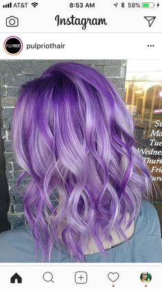 65 Awesome Purple Hair Color Ideas, Purple hair color ideas are in right now, and what better shade of pastel than ultra flattering and feminine lavender hair? Pretty Hair Color, Hair Color Purple, Purple Hair Styles, Dark Purple, Ombre Purple Hair, Pastel Lilac Hair, Deep Purple Hair, Bright Purple Hair, Purple Lilac