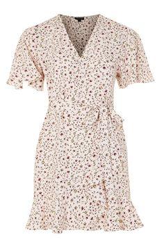 Daisy Print Ruffle Tea Dress - Dresses - Clothing - Topshop USA