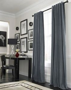 Black And Blue Messina Opulent Velvet Drape   Traditional   Curtains    Curtainworks Part 83