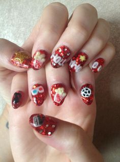 *HOLLYWOOD* 3D movie nails!