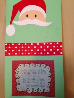 Christmas countdown by adding cotton balls to make Santa's beard.