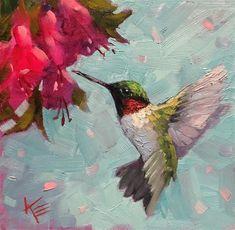 Krista Eaton Gallery of Original Fine Art Bird Paintings On Canvas, Bird Painting Acrylic, Hummingbird Painting, Bird Artwork, Abstract Canvas Art, Animal Paintings, Painting & Drawing, Watercolor Paintings, Bird Drawings