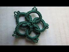Frivolite-tatting lesson 77 - anillos simples entrelazados - interlocking rings - YouTube