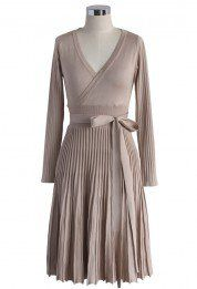 Embrace a Lithe Knitted Dress in Nude