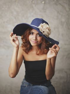 Maritime Mist - Floppy Sun Hat with Off-White Carnation ,Over size hat,  Navy Wide Brimmed Braided Reed Summer Floppy Hat on Etsy, $36.95