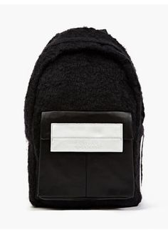 Eastpak x Nicomede Black Shearling and Leather Fleury Backpack   oki-ni   325.77 Diaper Backpack f1a86fd4962d5