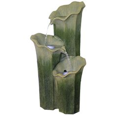 "$237.99 25.5""h Found it at Wayfair - Cascavel 2 Piece Resin Outdoor Fountain"