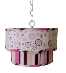 Pink Circles Mix Scalloped Pendant from Charn & Company