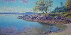 Silence, Bekkjarvik - NORWAY Oil on linen, 50 x 100 cm Shops, Sea Art, Monet, Impressionist, Norway, Sunrise, Ocean, Beach, Water