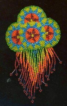 vintage huichol hair barrette  ornament. $34.50, via Etsy.