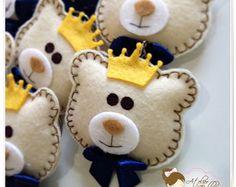 Chaveiro Ursinho Com Coroa