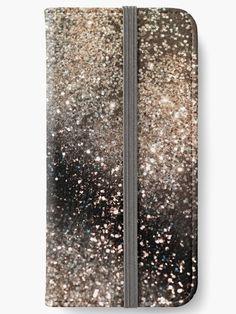 """Sparkling GOLD BLACK Lady Glitter #3 #decor #art"" iPhone Wallets by anitabellajantz   Redbubble"