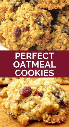 This oatmeal craisin pecan cookies recipe makes the best oatmeal cookies ever. Healthy Oatmeal Cookies, Oatmeal Cookie Recipes, Chocolate Chip Oatmeal, Walnut Cookie Recipes, Walnut Cookies, Pecan Cookies, Cranberry Cookies, Teacher Appreciation