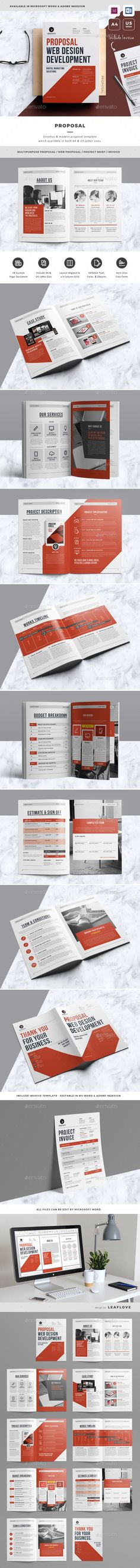 Proposal — InDesign INDD #web design #marketing #contract • Download ➝ https://graphicriver.net/item/proposal/19509764?ref=pxcr