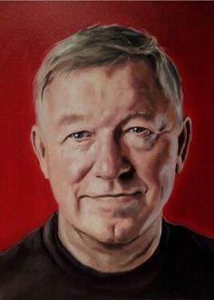 Sir Alex Ferguson Tribute Painting by Manchester artist Liam Dickinson.  Prints available at www.futbolartistnetwork.com.  Email us to inquiry about the original.    #soccer #futbol #ManchesterUnited #manu #AlexFerguson #soccerart #futbolart #BPL #championsleague