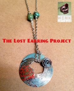 Orphan earring became a pendant. The Lost Earring Project by Wink Artisans Sterling Silver Jewelry, Silver Rings, Making Space, Recycled Jewelry, Opal Rings, Handmade Clothes, Luxury Jewelry, Handmade Necklaces, Artisan Jewelry
