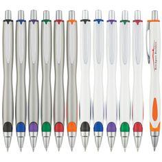 1. Grip de Goma para Escribir con comodidad y control 2. Colores Disponibles: Blanco/Plateado con Negro, Azul, Morado, Verde, Rojo, Anaranjado