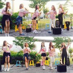 CLC Meets Fans At Busking (Street Performance) Event at Han River Park | Koogle TV