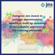 Everyone can invest in average opportunities; wealth is built by investing in the greatest opportunity the economy presents.