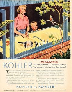 3 midcentury home design products we wish they'd bring back NOW -- #2 on my list -- this Kohler Clearfield sink in white.