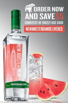 Have New Amsterdam Watermelon Vodka delivered to your door in under an hour! Drizly partners with liquor stores near you to provide fast and easy Alcohol delivery. Liquor Drinks, Vodka Cocktails, Cocktail Drinks, Alcoholic Drinks, Beverages, Fruity Drinks, Summer Drinks, Cheers, Watermelon Vodka