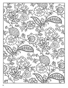 printable dover coloring pages | Paisley Designs Coloring Book (Dover Coloring Book)_Page_26 (541x700 ...
