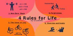 4 rules for life non-zero days #productivity
