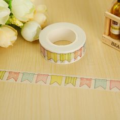 1.5cm*10m Colour Flag washi tape DIY decoration scrapbooking planner masking tape adhesive tape label sticker stationery *** Haga clic en la VISITA botón para ver los detalles