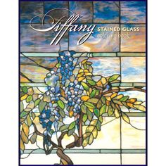 The Tiffany Stained Glass coloring book features 14 drawings based on original window designs by Louis Comfort Tiffany.