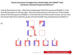 Practice questions for the Naglieri Nonverbal Ability Test (NNAT) 5th grade to 6th grade