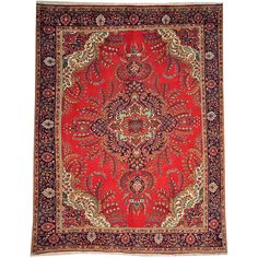 Hand-knotted Old Persian Tabriz Full Pile Wool Area Rug (10' x 12'7) - Overstock Shopping - Great Deals on One Of A Kind Rugs