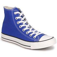 Converse All-star blue high tops.