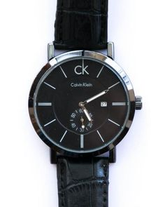 514bf205c6 Ck Watches For Mens With Date   Time in Black Dial   Belt - Calvin Klein