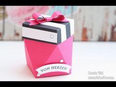 Anleitung: kleine Diamantbox erstellt mit dem Papierschneider | Stampin' Up! - YouTube