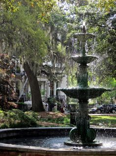 Savannah Historic District - Fountain