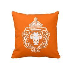 Nederlandse Oranje Leeuw Kussen #oranje