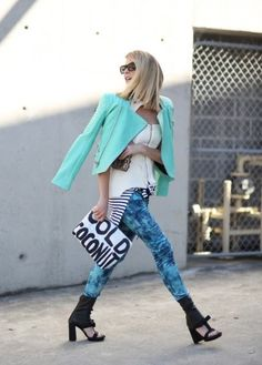 Colour chic street style