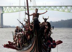 Annual Viking festival of Catoira in north-western Spain.