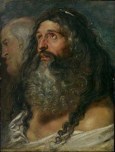 """Study Of Two Heads"" -- Circa 1609 -- Peter Paul Rubens -- Flemish -- Oil on wood -- Metropolitan Museum of Art"