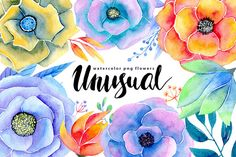 Watercolor flowers 17 png by WatercolorS on @creativemarket