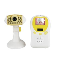 2.4G Wireless Baby Monitor with 1.6 Inch LCD, 4 Channels and Sound Activation Function