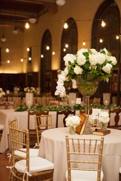 Elegant tables: http://www.stylemepretty.com/texas-weddings/houston/2015/04/16/classic-houston-wedding-in-the-julia-ideson-library/ | Photography: Kelli Elizabeth - http://www.kellielizabeth.com/